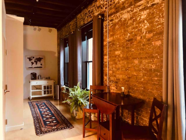 This clean, spacious loft-style studio apartment is perfect for solo travelers, couples and business people alike.
