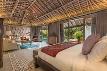 The master bedroom facing to main pool