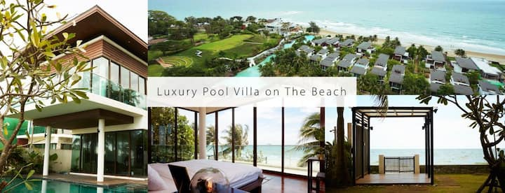 Luxury Beach Front Pool Villa, Phuphatara Rayong