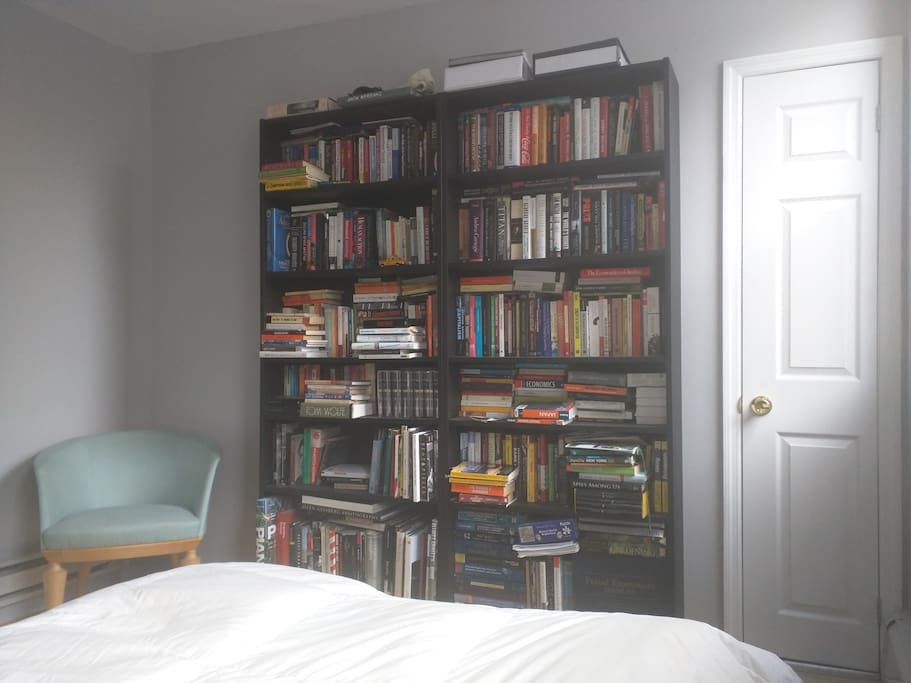 Bedroom and library
