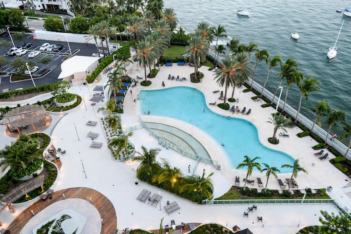 Heart of Miami Beach with  Bay and Ocean View