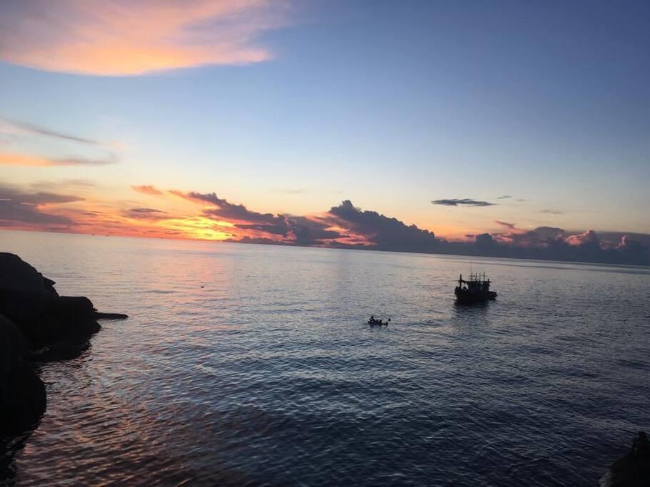 Sunset from Tao Tong Villa