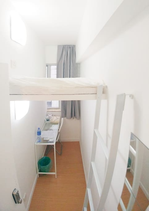 Single Room with Loft Bed