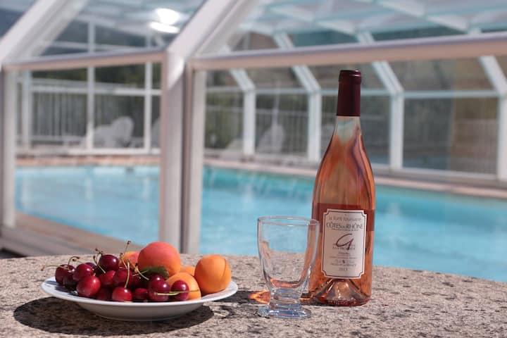 Séjour au calme en Drôme Provençale avec piscines