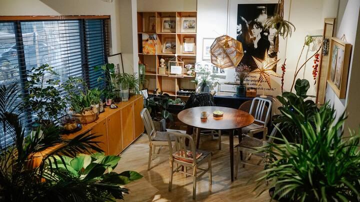 【美丽有一间】隐匿在市中心咖啡馆里的惬意房间 位于医学院南门口 5分钟到南大街市中心和金鹰圆融商务区