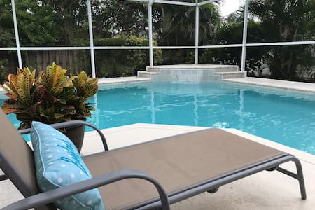 Spacious Saltwater Pool Home by Beach w Game Room
