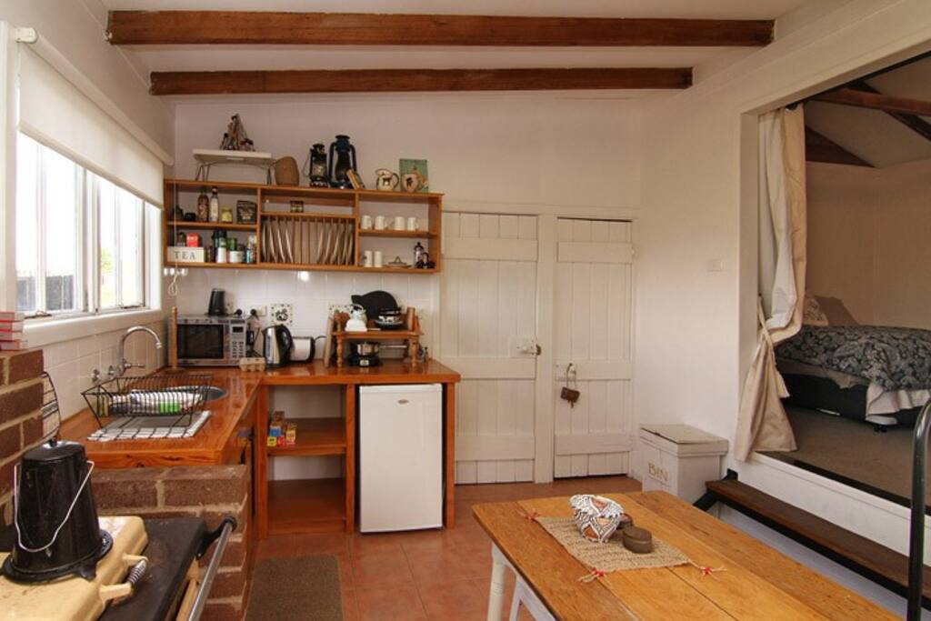 Kitchen with limited cooking facilities