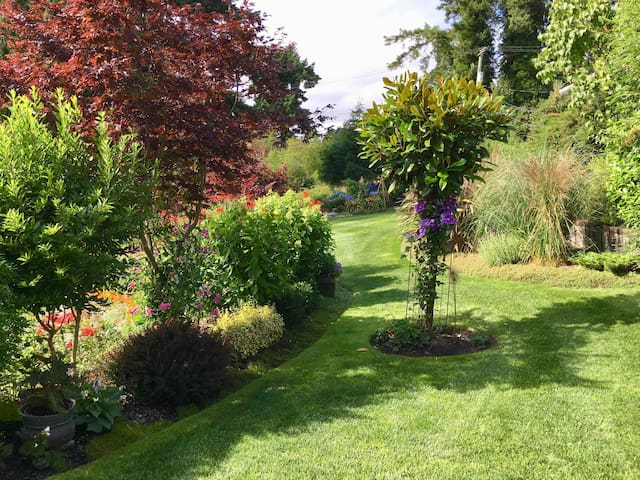 Enjoy a walk-about in the gardens.