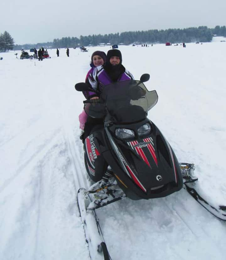 SNOWMOBILING- GROOMED TRAILS- ICE FISHING