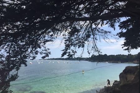 Apt  Rez de Jardin à 300 m des plages de Beg Meil