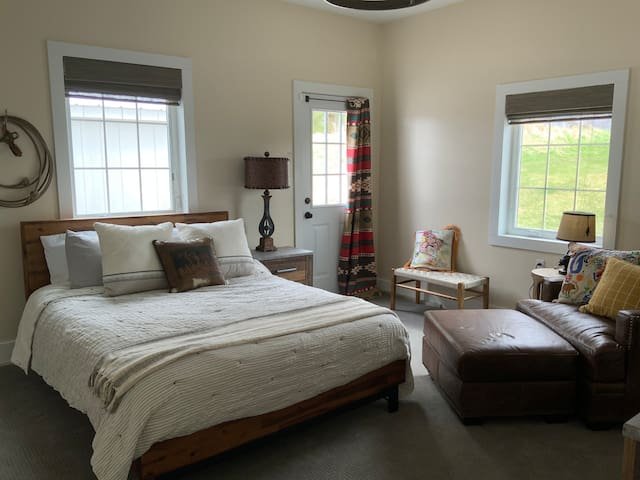 Western themed downstairs bedroom