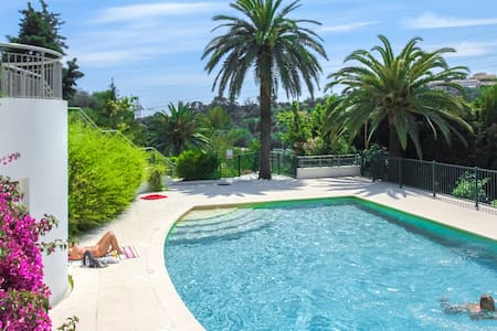 Lovely Flat with Pool + A/C + Parking + Terrace - Nice - Appartement