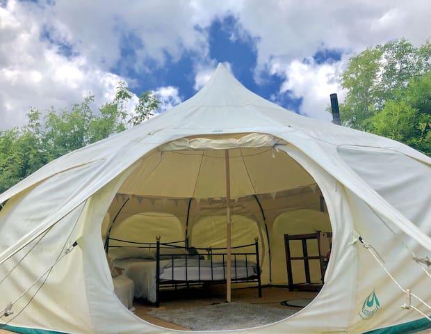 """Luxury Bell Tent in Cornwall """"The Warren"""""""