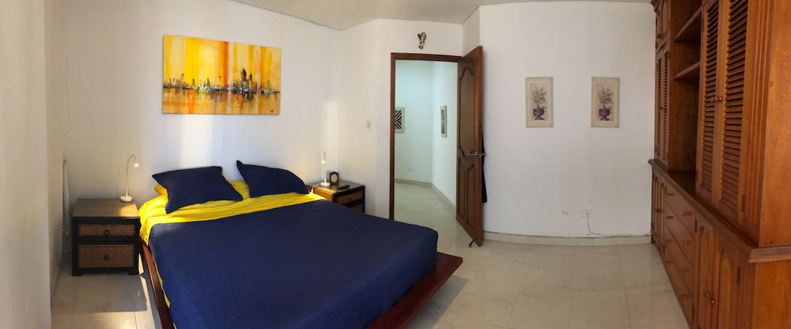 Master bedroom, air conditioned, smart TV