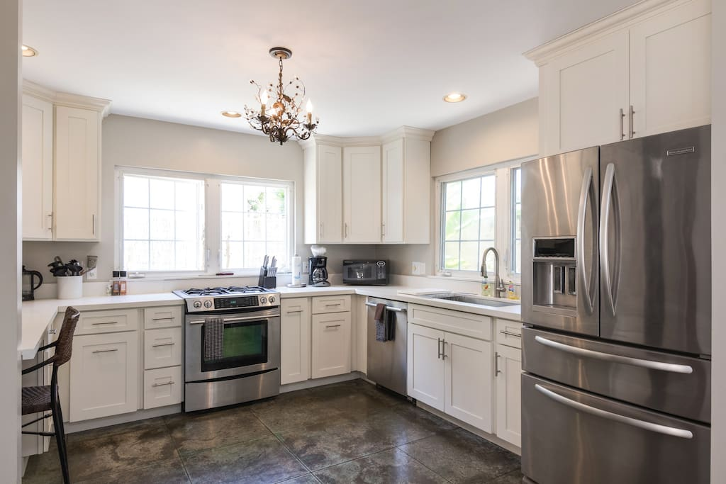 Updated kitchen with quartz counters