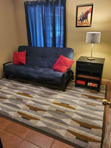 Room with futon - exciting Westside location!