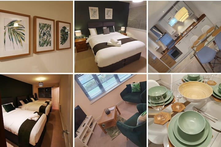 ⭐2 Bed for Business/Families upto 5, w/Car Park⭐