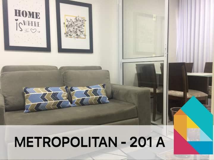 Res. METROPOLITAN -201 - 1qto c/máquina de lavar
