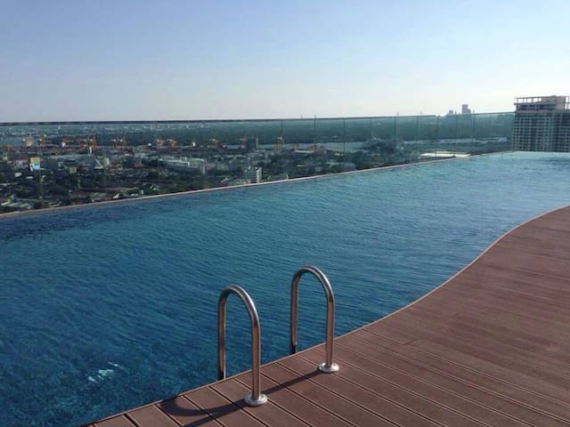 Quiet 2Bedrooms, Rooftop Pool 5step walk to BTS E8 - Bangkok - Ortak mülk