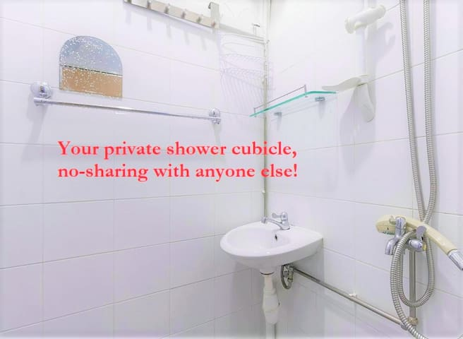 shower wash basin in YOUR solo *room 1970s unit