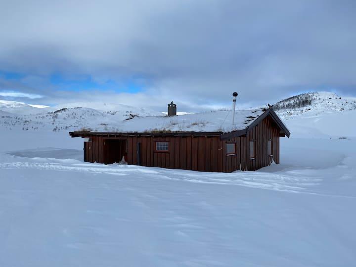 Hytte med mulighet for snøskuterkjøring