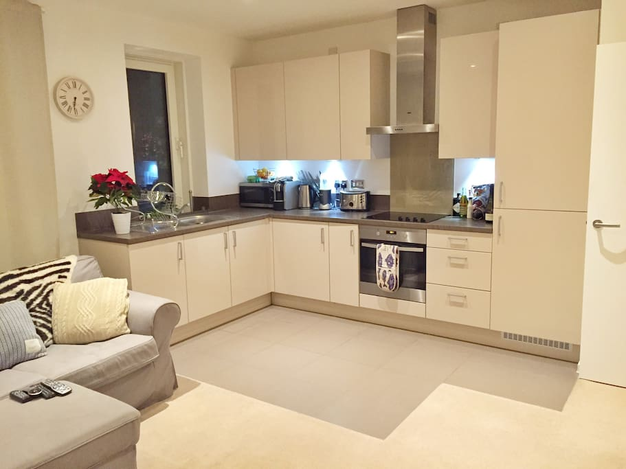 Spacious kitchen with all the appliances you need
