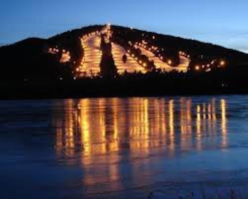 Night Skiing at Shawnee Mountain