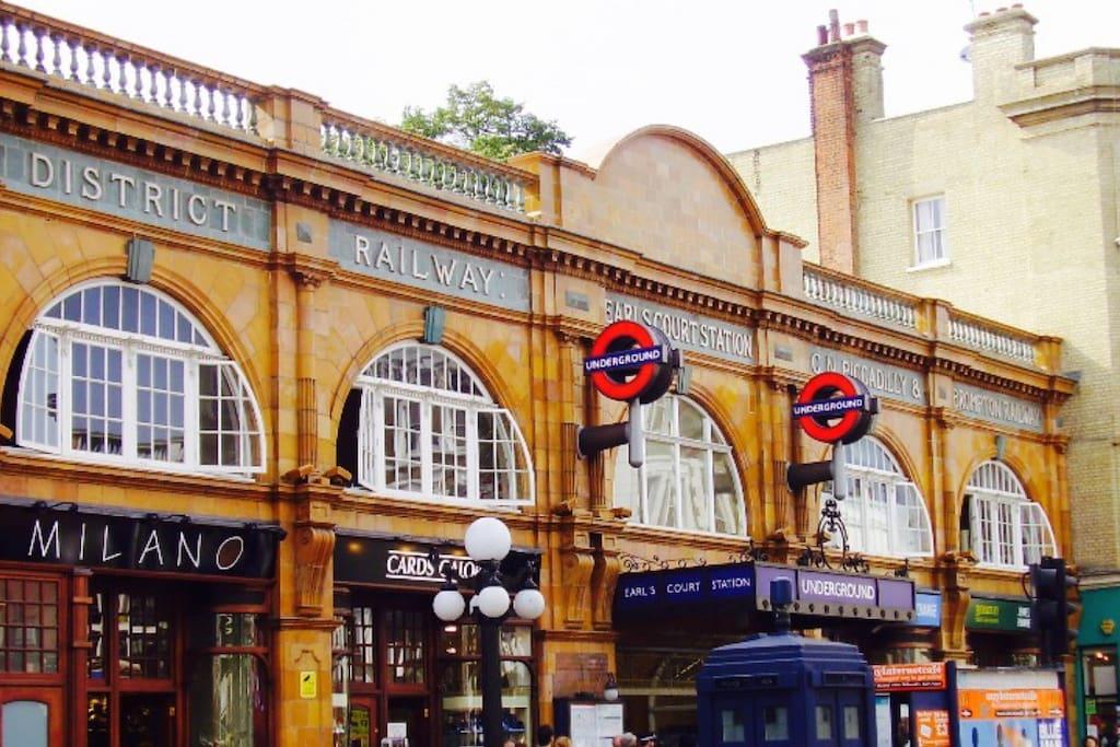Short walk to Earl's Court tube station