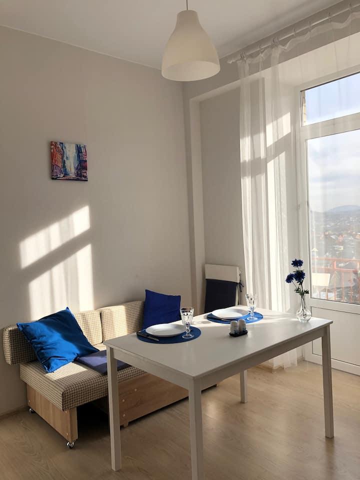 Новая квартира с видом на горы в курортной зоне