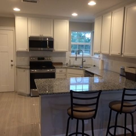 Brand new kitchen stocked with everything you need