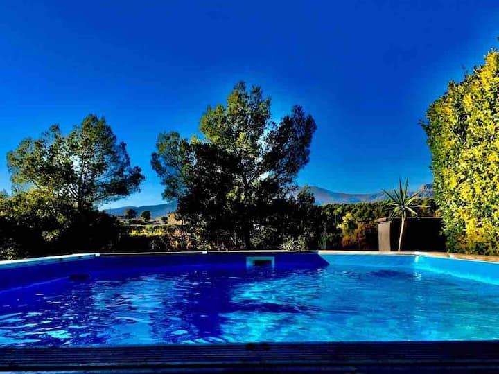 Villa 6 personnes-piscine-Au calme-Proche plages
