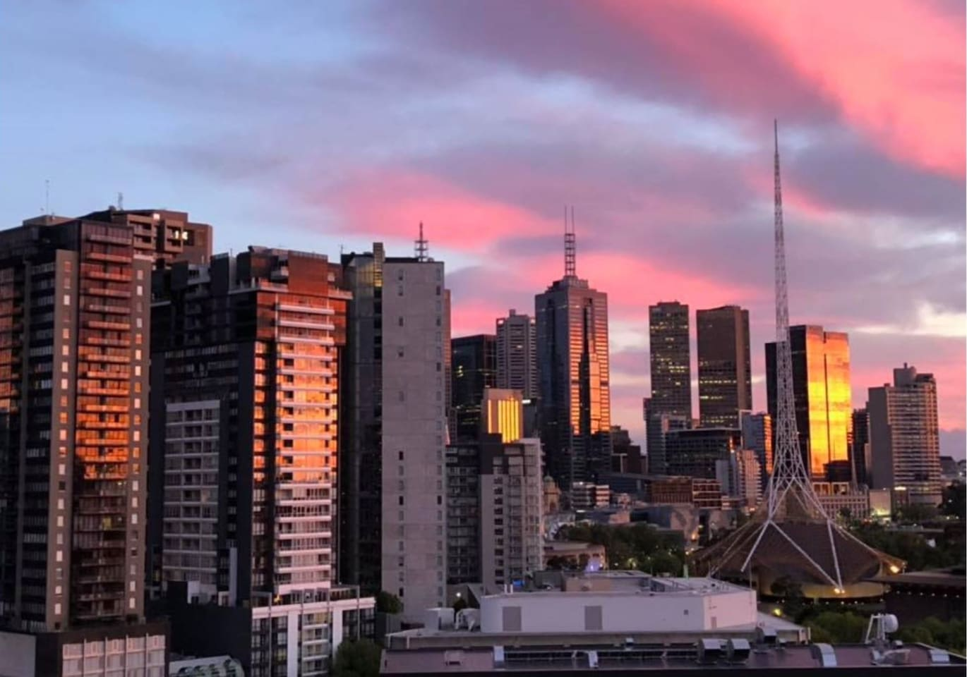 Melbourne Sunrise from the Balcony