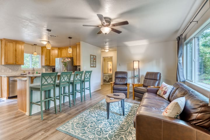 Premium Cleaned | Single level dog-friendly home with private fenced-in yard & easy beach access!