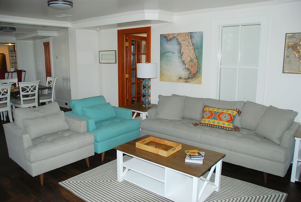 Living Area at Nags Head Beach Inn Unit 10