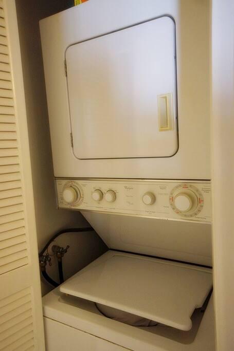 숙소내에 세탁기와 건조기가 준비되어 있어요 무료로 사용하실수 있어요