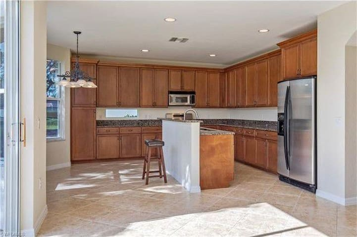Large and fully equipped kitchen we are happy to share