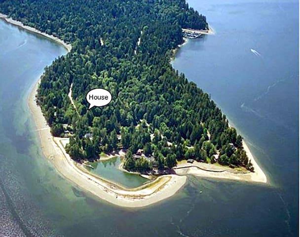 Harstine Beach Cabin Nestled in the Woods