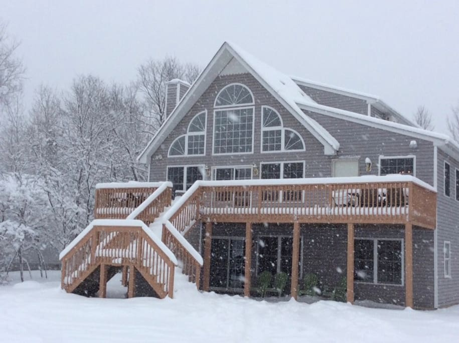 Winter front of house