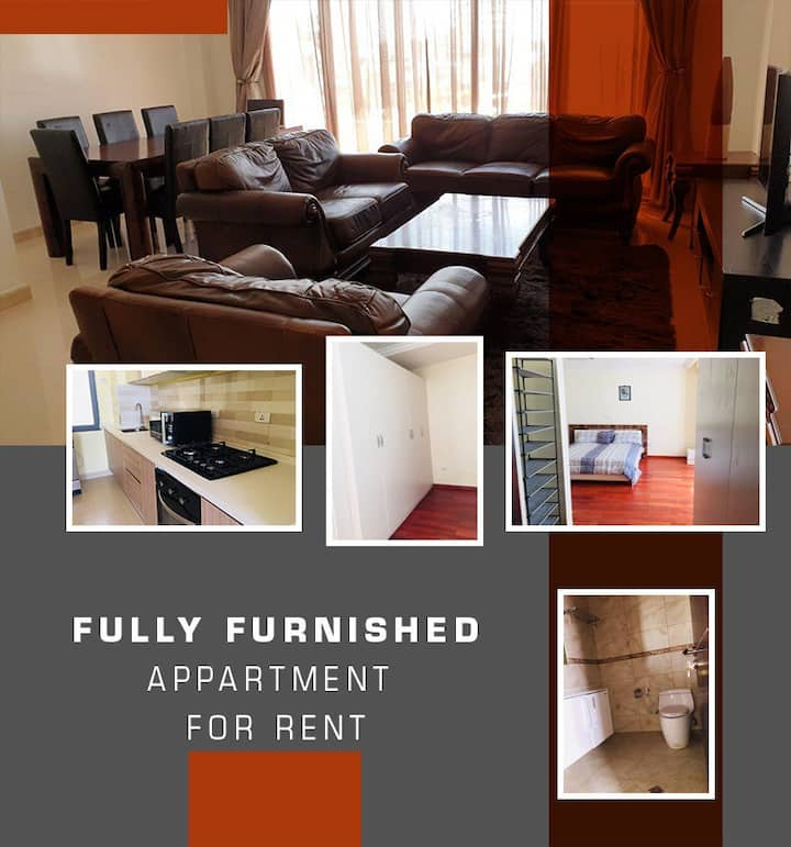 Spacious fully furnished 3 Bedroom Apartment