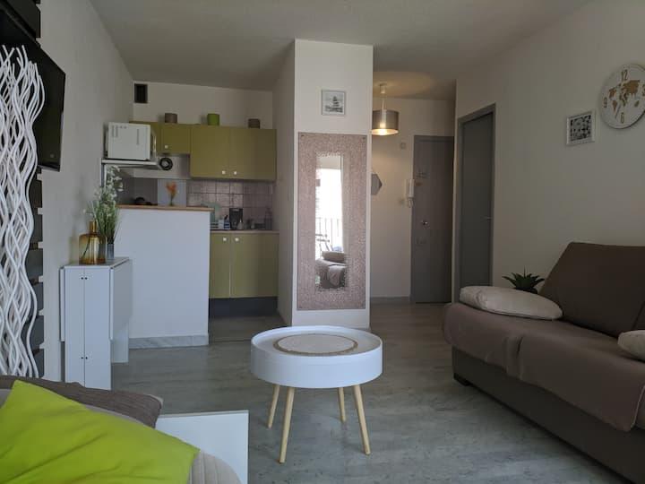 Studio/loggia,vue bateaux/Parking/WIFI/Cap d'Agde