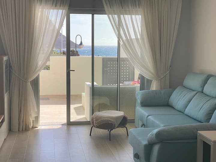 A beautiful apartment with a perfect beach view