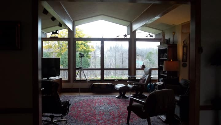Riverfront Mid-Century home