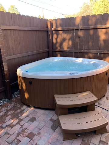 Relax in your private 2 person brand new spa.