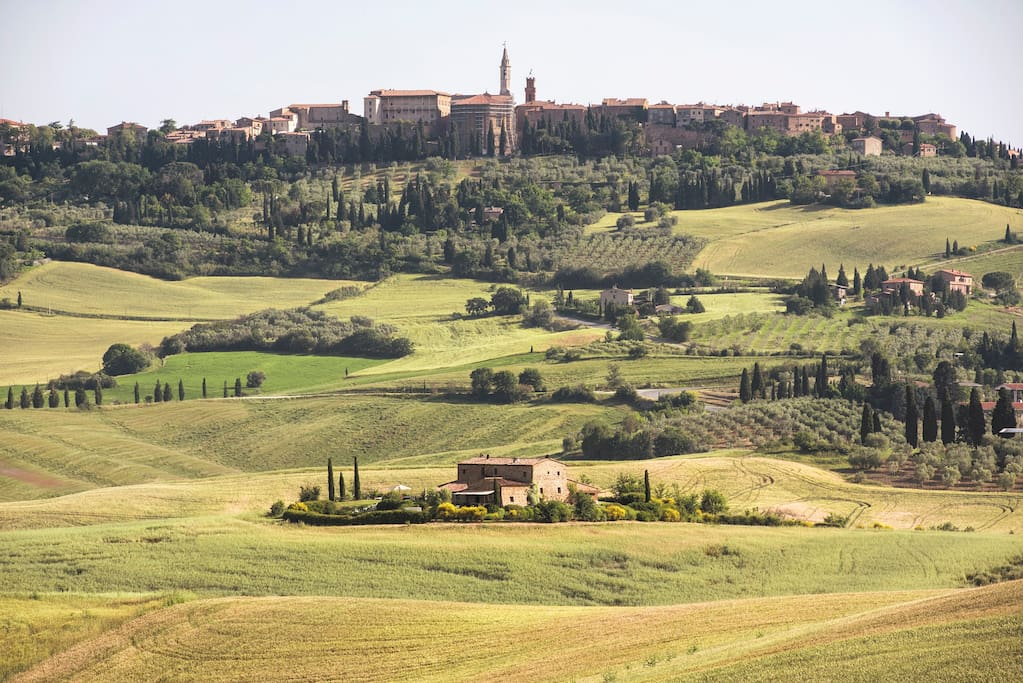 The villa with the amazing view of Pienza