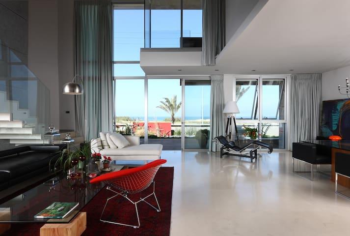 modern  Seafront view house in Ashdod