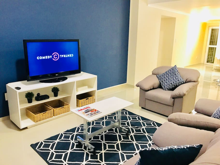 "Living Room, 41"" TV with full DSTV bouquet and Wi-Fi"