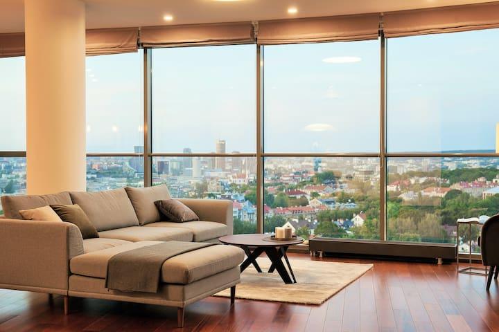 Luxury Panoramic Vilnius Apartment