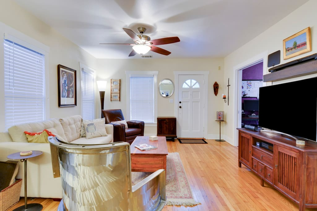 Spacious living area provides a gathering place for the whole crew.