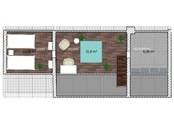 Grundriss ausgebautes Dachgeschoss