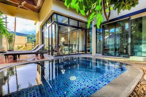 1-bedroom Luxury Bali style Pool Villa in Naiharn